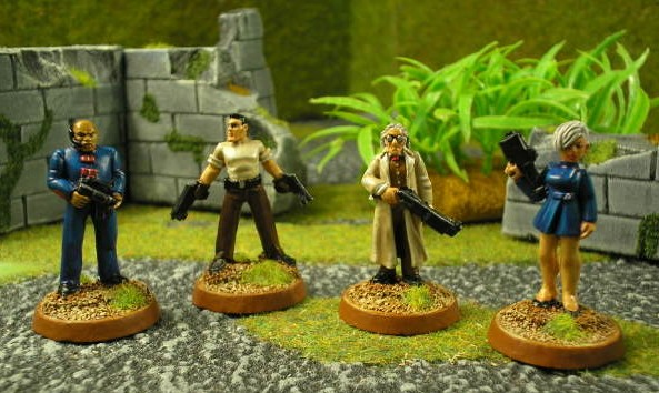 Enforcers from the 28mm Corporate Wars Range